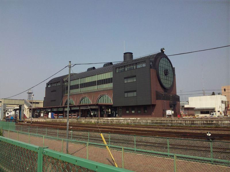 昼間に送れなかった真岡駅の写真